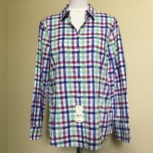 NWT $78 BROOKS BROTHERS gingham check shirt 12